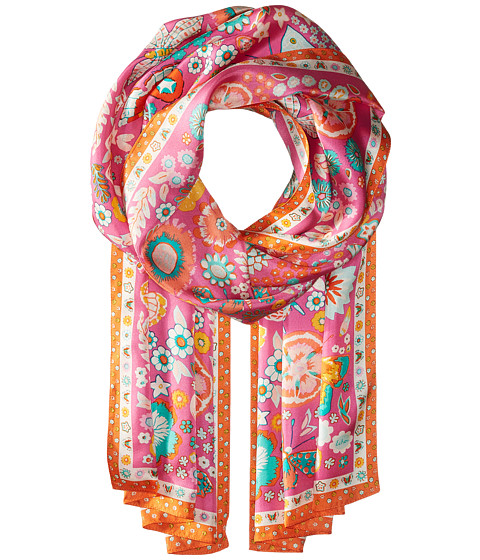 Echo Design Butterfly Silk Oblong Scarf - Hibiscus Pink