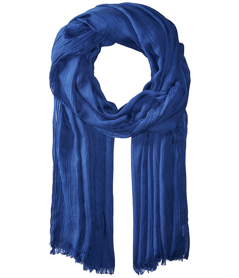 Echo Design Solid Crinkle Wrap Scarf - Navy