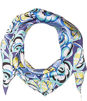 Echo Design - Sketchy Floral Silk Diamond Scarf