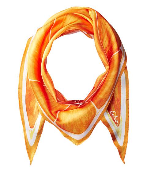 Echo Design Slice O Fruit Silk Diamond Scarf - Orange