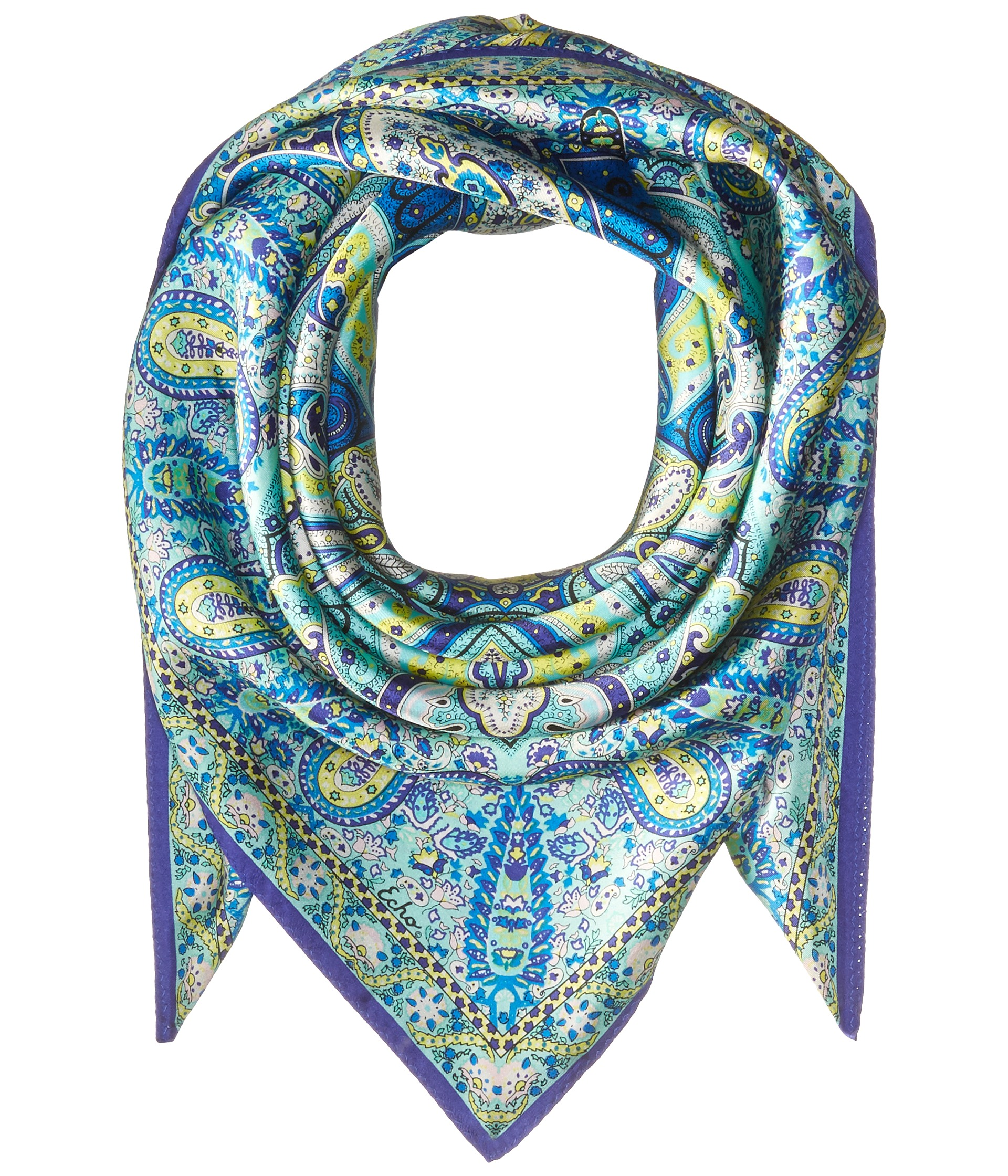 echo design paisley silk square scarf at zappos