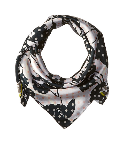 Echo Design Dots on Dots Silk Square Scarf - Black