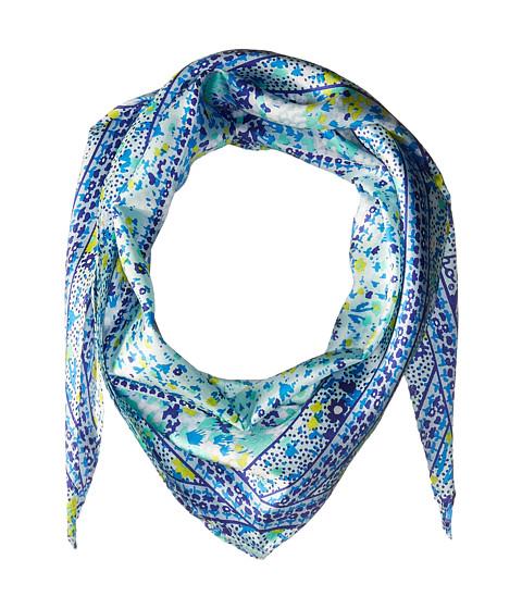 Echo Design Ditzy Patchwork Silk Diamond Scarf - Brilliant Blue