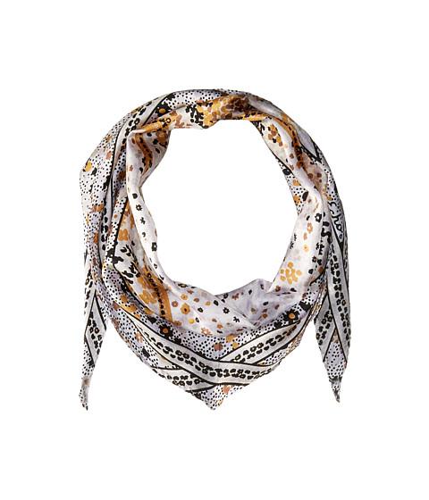 Echo Design Ditzy Patchwork Silk Diamond Scarf - White