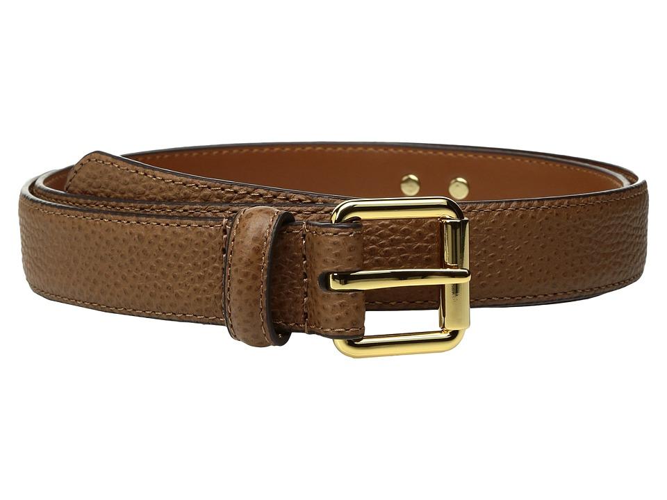 LAUREN Ralph Lauren Classics Officers Plaque Belt (Field Brown) Women