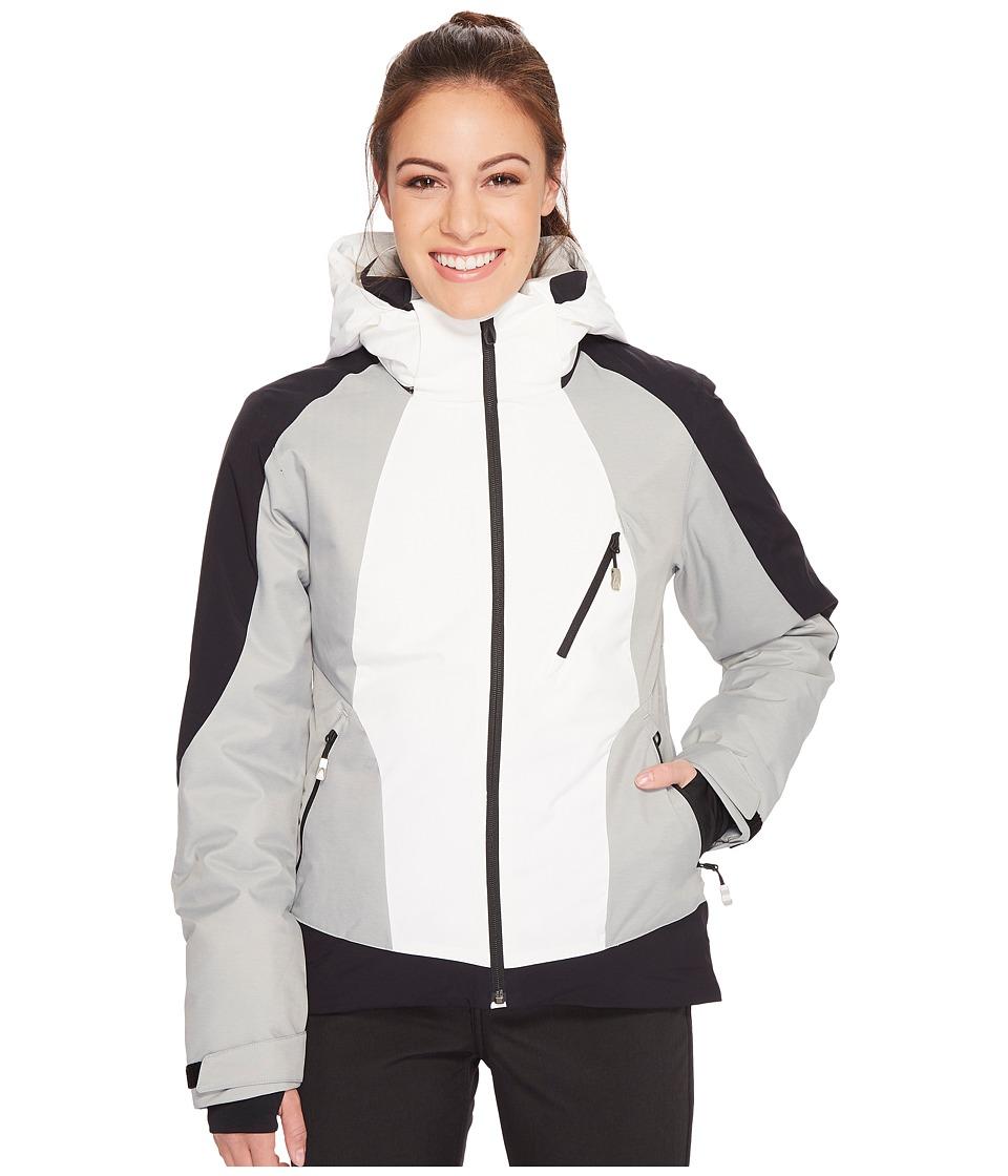 Spyder Amp Jacket (Marshmallow/Black/Limestone) Women's Coat