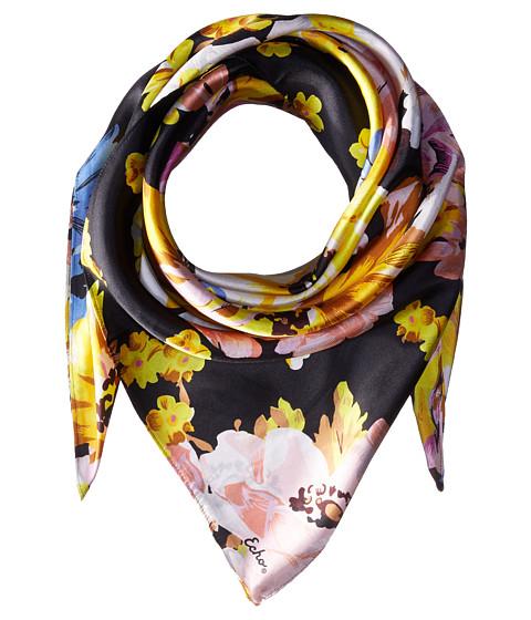 Echo Design Floral Silk Square Scarf - Black