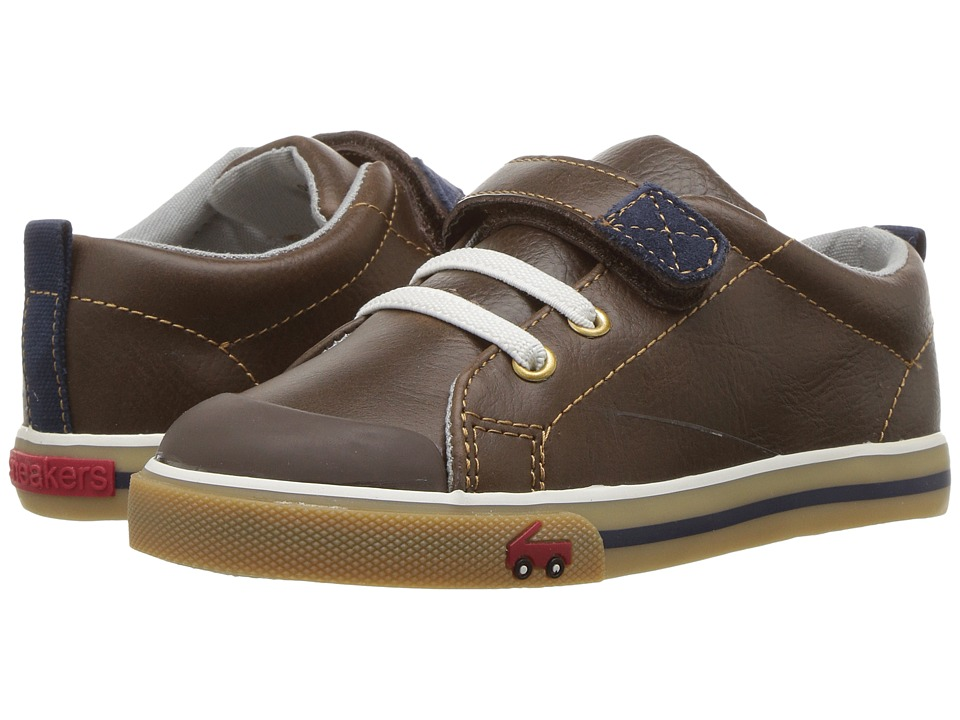 See Kai Run Kids Stevie II (Toddler) (Brown Leather) Boy's Shoes