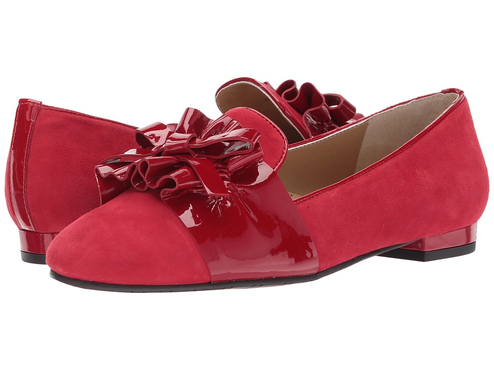Vaneli Cicely (Red Suede/Matching Patent) Women