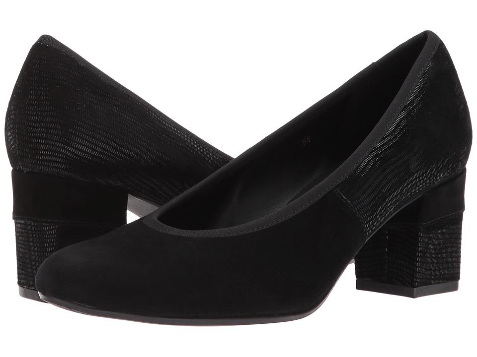 Vaneli Debora (Black Suede/Black Miniliz Print/Black Elastic) Women's Shoes