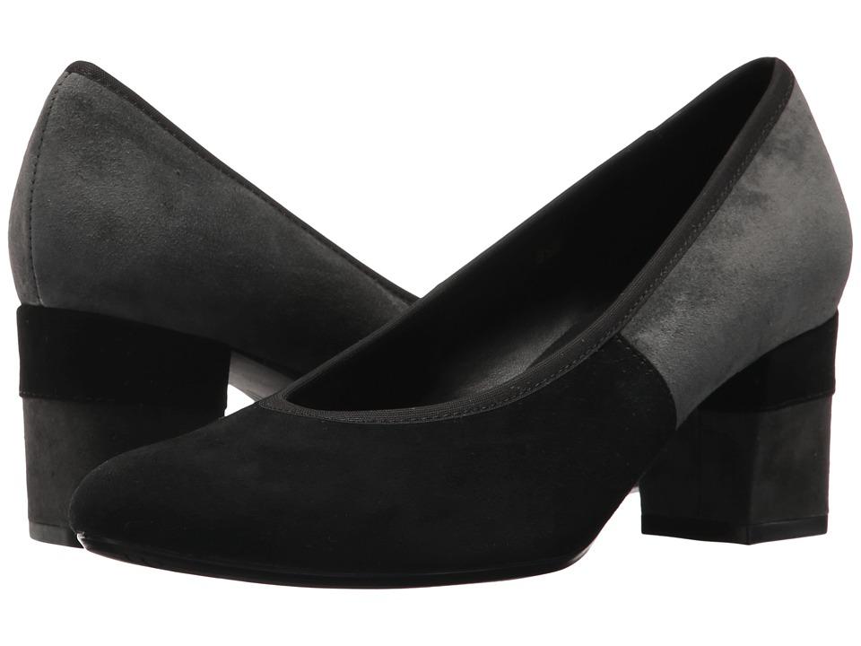 Vaneli Debora (Black Suede/Dark Grey Suede/Matching Elastic/Black Suede) Women