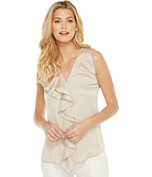 Calvin Klein - Sleeveless Top with Ruffle Front Blouse