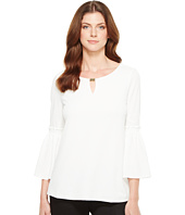 Calvin Klein - Flutter Sleeve Top with Hardware