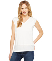 Calvin Klein - Short Sleeve V-Neck with Crepe De Chine Trim