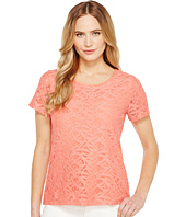 Calvin Klein - Short Sleeve Abstract Lace Top