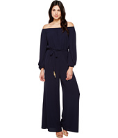 Vince Camuto - Off the Shoulder Long Sleeve Jumpsuit