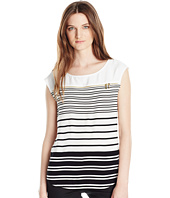 Calvin Klein - Sleeveless Stripe Zipper Top