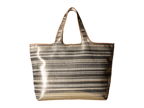 Echo Design Metallic Stripe Hamptons Tote - Black