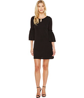 Calvin Klein - Flutter Sleeves Dress with Hardware