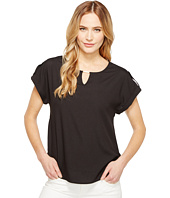 Calvin Klein - Short Sleeve Top with Bar Hardware