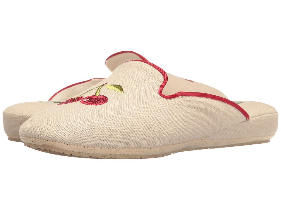 Patricia Green Cherries Slipper (Linen) Women