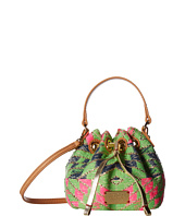 Frances Valentine - Mini Ann Metallic Print Jacquard Bucket Bag