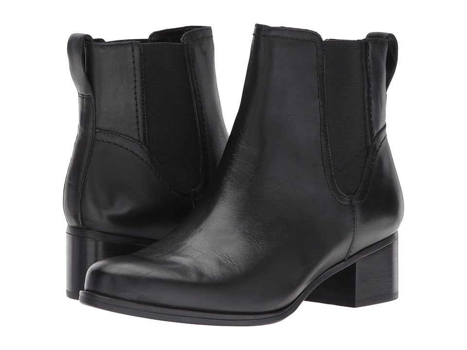 Naturalizer - Dallas (Black Leather) Womens Boots
