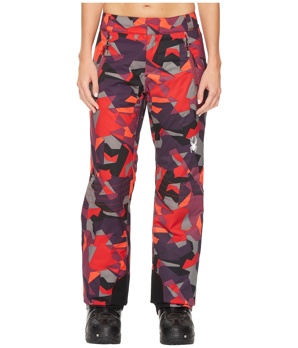 Spyder - Winner Athletic Pants (Red Camo Print) Women's Casual Pants