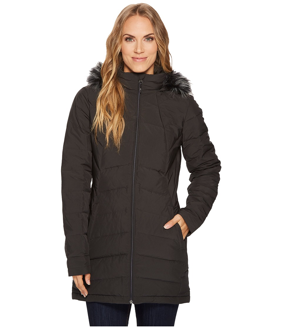 Spyder Syrround Faux Fur Down Coat (Black) Women