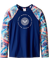 Roxy Kids - Retro Summer Long Sleeve Lycra Rashguard (Big Kids)