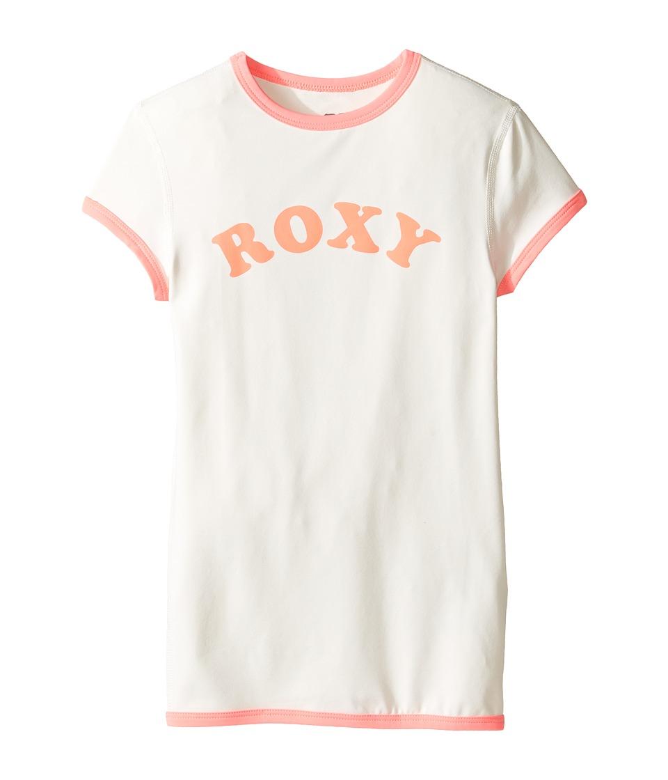 Roxy Kids Sunset Short Sleeve Rashguard (Big Kids) (Marshmallow) Girl