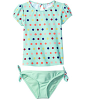 Roxy Kids - Rainbow Dots Short Sleeve Lycra Set (Toddler/Little Kids)