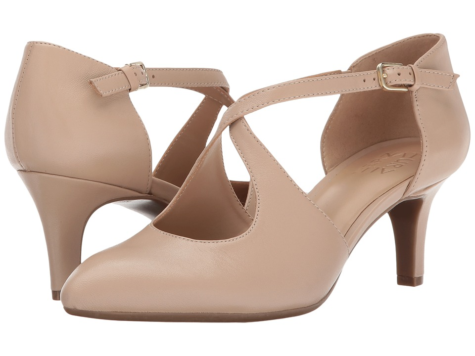 Vintage Style Shoes, Vintage Inspired Shoes Naturalizer - Okira Tender Taupe Leather Womens 1-2 inch heel Shoes $89.99 AT vintagedancer.com