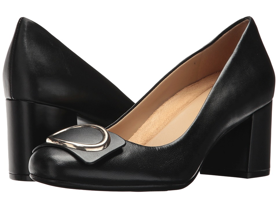 Naturalizer Wright (Black Leather) High Heels