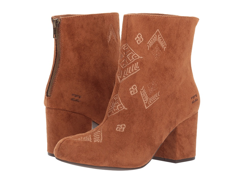 Vintage Style Boots, Retro Boots, Granny Boots, Fur Top Boots Billabong - Luna Desert Brown Womens Pull-on Boots $79.95 AT vintagedancer.com
