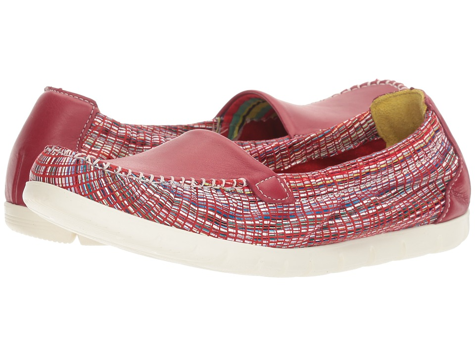 SAS Sunny (Red/Rainbow) Women's Shoes