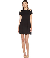 Culture Phit - Jewel Short Sleeve Dress with Shoulder Cut Out Detail