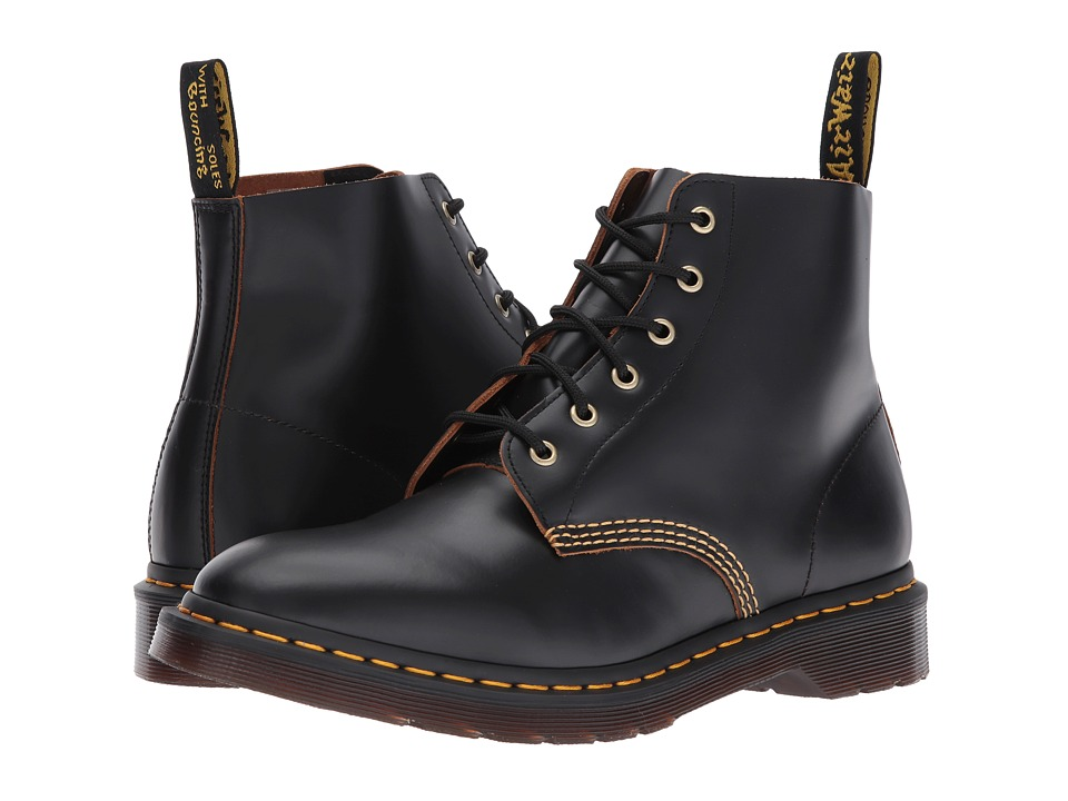 Dr. Martens 101 Smooth Archive 6-Eyelet Boot (Black Vintage Smooth) Boots