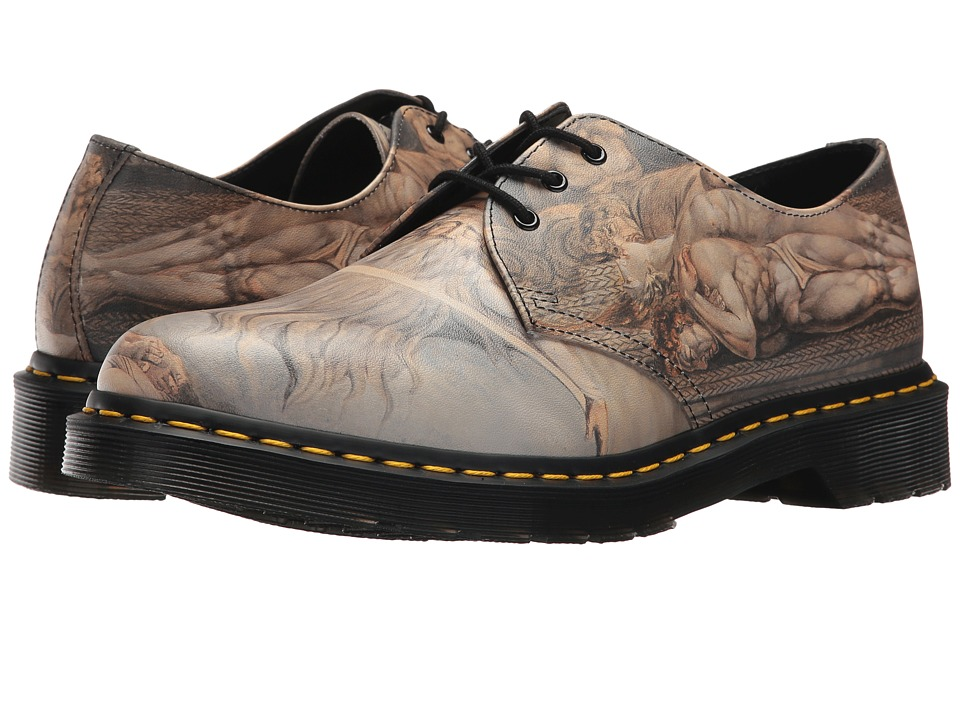 Dr. Martens William Blake 1461 3-Eye Shoe (White Backhand/William Blake) Lace up casual Shoes