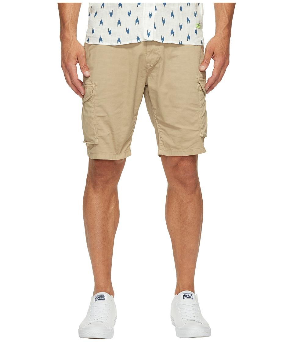 Scotch & Soda Garment Dyed Cargo Shorts in Stretch Cotton Quality (Sand) Men