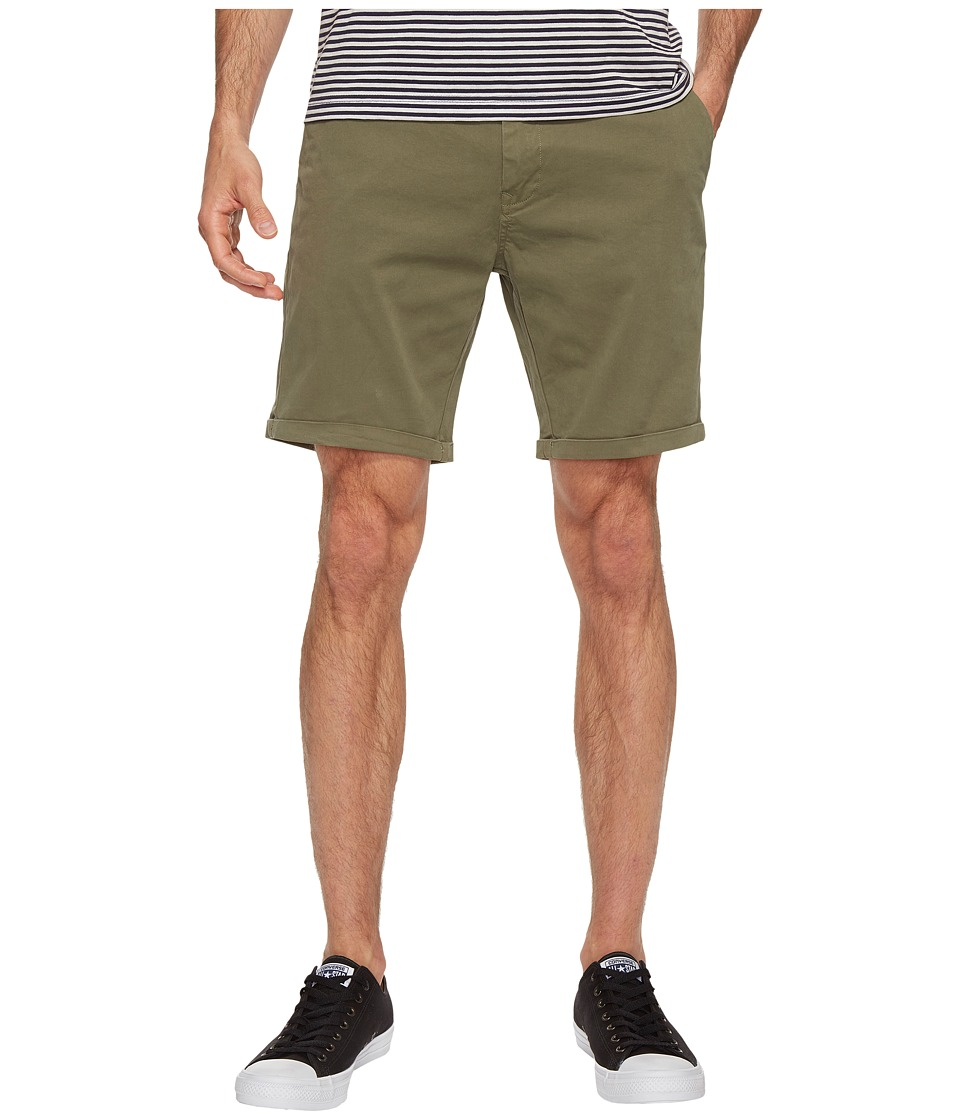 Scotch & Soda Classic Garment Dyed Chino Shorts in Stretch Cotton Quality (Army) Men
