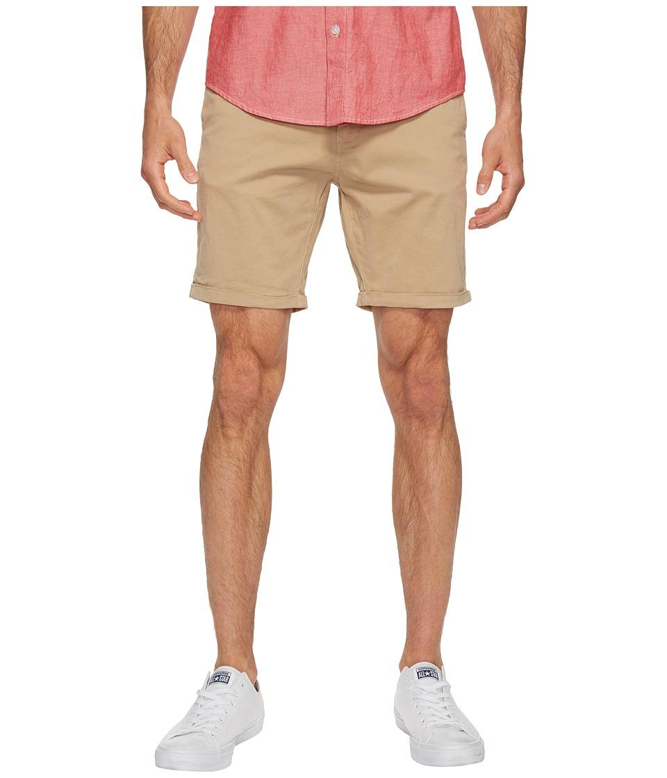 Scotch & Soda Classic Garment Dyed Chino Shorts in Stretch Cotton Quality (Sand) Men