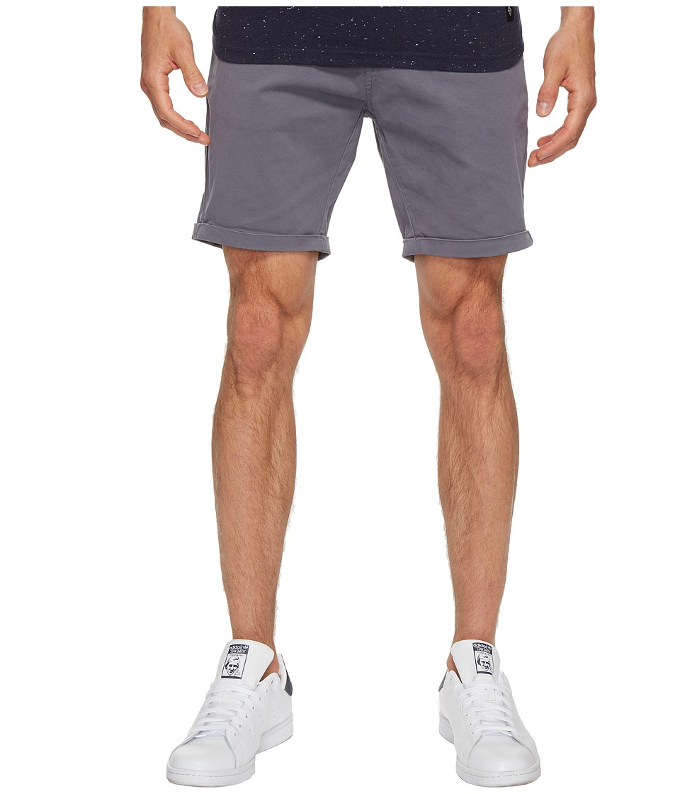 Scotch & Soda Classic Garment Dyed Chino Shorts in Stretch Cotton Quality (Steel) Men