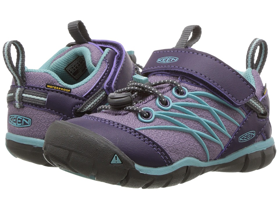 Keen Kids Chandler CNX WP (Toddler/Little Kid) (Montana Grape/Aqua Haze) Girls Shoes