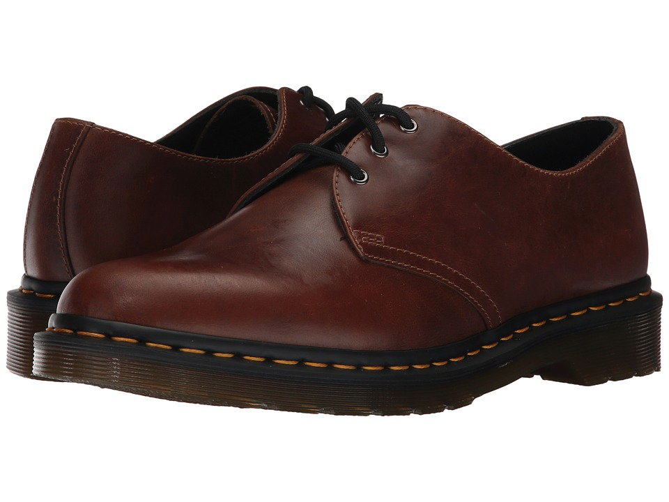 Dr. Martens - 1461 3-Eye Shoe (Butterscotch Orleans) Mens Lace up casual Shoes