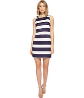 Vince Camuto - Satin Shift Dress with Beaded Neckline