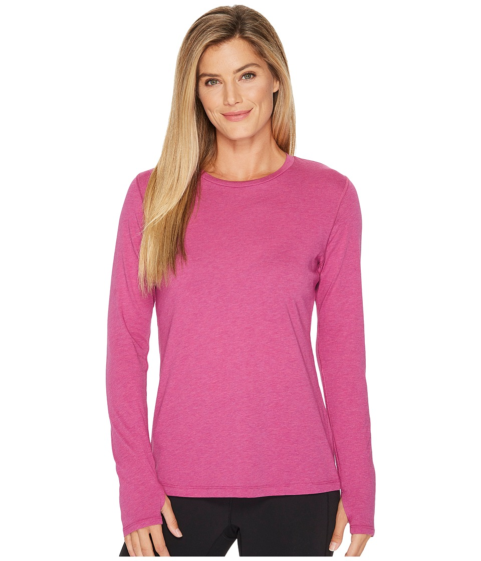 New Balance Heather Tech Long Sleeve Top (Poisonberry Heather) Women