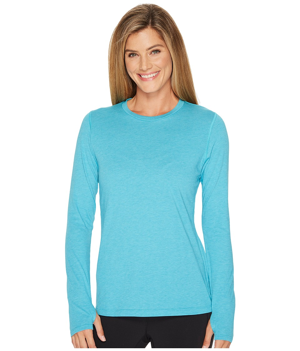 New Balance Heather Tech Long Sleeve Top (Pisces Heather) Women