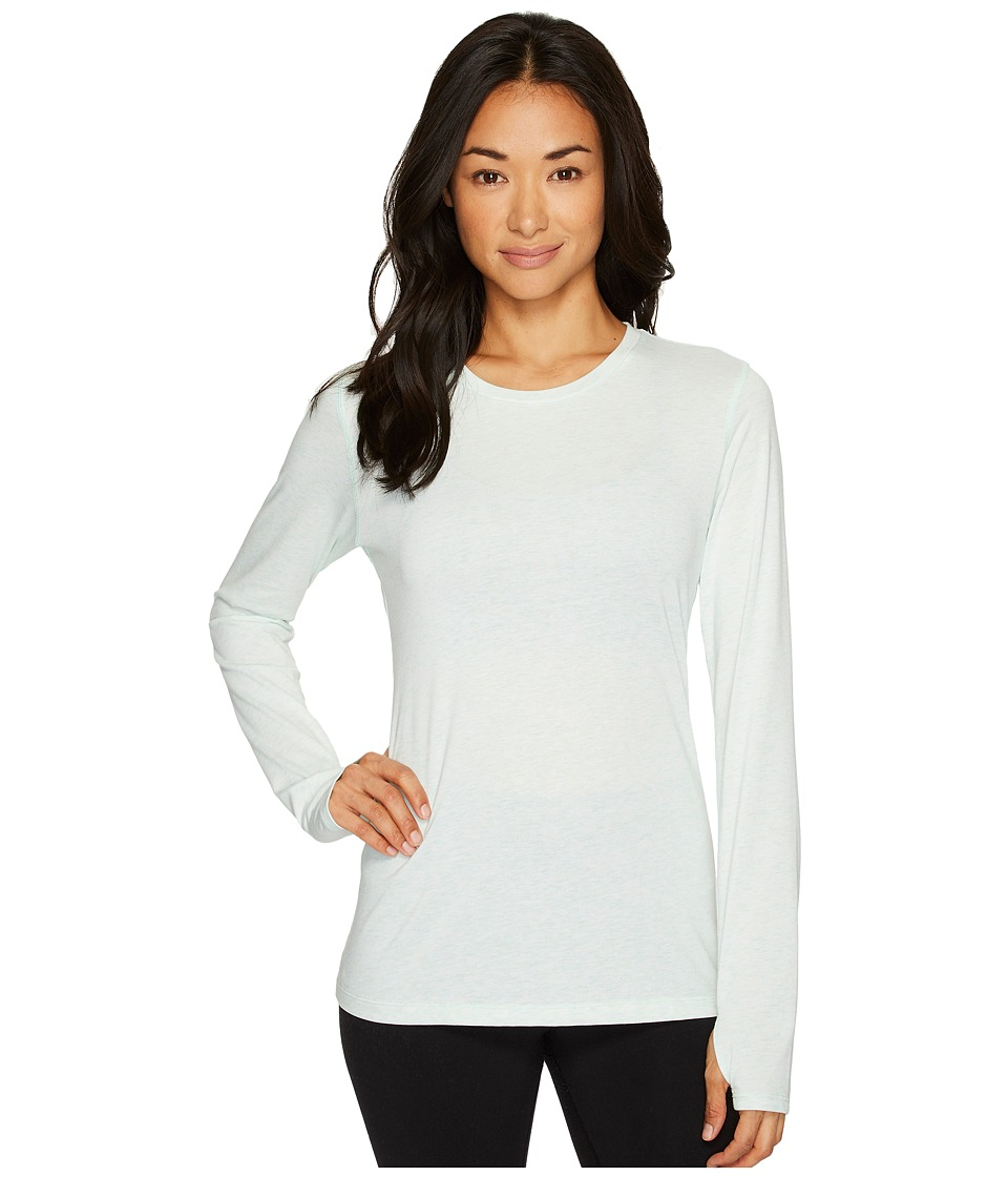 New Balance Heather Tech Long Sleeve Top (Water Vapor Heather) Women