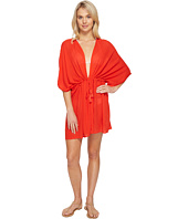 Echo Design - Solid Open Front Caftan Cover-Up